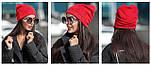 Женская модная шапка из ангоры со звездами (4 цвета), фото 8