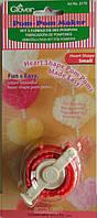 Инструмент для создания помпонов формы сердца (мал) Clover Pom-Pom Makers Heart Shape, Small 3170