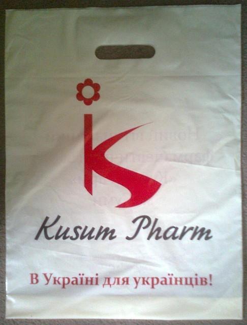 Пакеты с вырубной укрепленной ручкой Kusum Pharm
