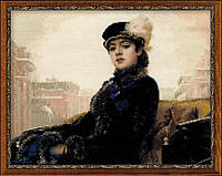 """Набор для вышивания RIOLIS PREMIUM «""""Неизвестная"""" по мотивам картины И. Крамского» (100/031)"""