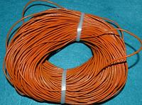 Шнур шкіряний 20116 світло-оранжевий 95 м