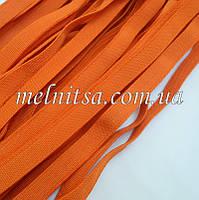 Резинка текстильная, плоская, 10 мм, цвет оранжевый