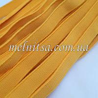 Резинка текстильная, плоская, 10 мм, цвет желтый