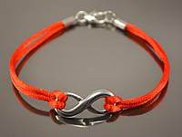 Красный женский браслет от сглаза с Бесконечностью