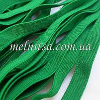 Резинка текстильная, плоская, 10 мм, цвет зеленый