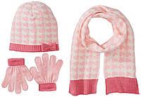 Демисезонный комплект тройка - шапка, перчатки и шарф; 2-5 лет
