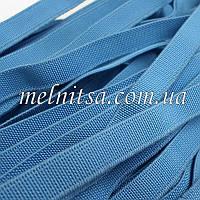 Резинка текстильная, плоская, 10 мм, цвет голубая