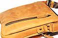 Кожаная мужская сумочка Mk48 рыжая, фото 9