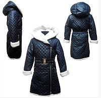 Зимнее детское пальто для девочек от 122 до 140 см рост