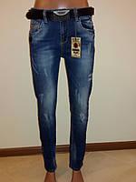 Женские джинсы с потертостями Sessanta 14084