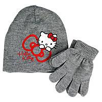 Демисезонный комплект Hello Kitty серый; универсальный размер