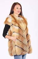 Жилет из натурального меха лисы.