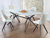 Белый кухонный стол Halmar Pascal на нестандартных ножках