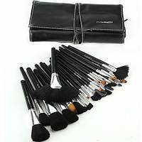 Набор кистей для макияжа MAC 24 в чехле ,кисточки для макияжа