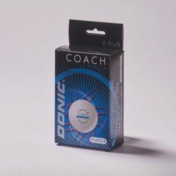 Пластиковые мячи для  настольного тенниса Donic Coach  P40+ (6 шт.)
