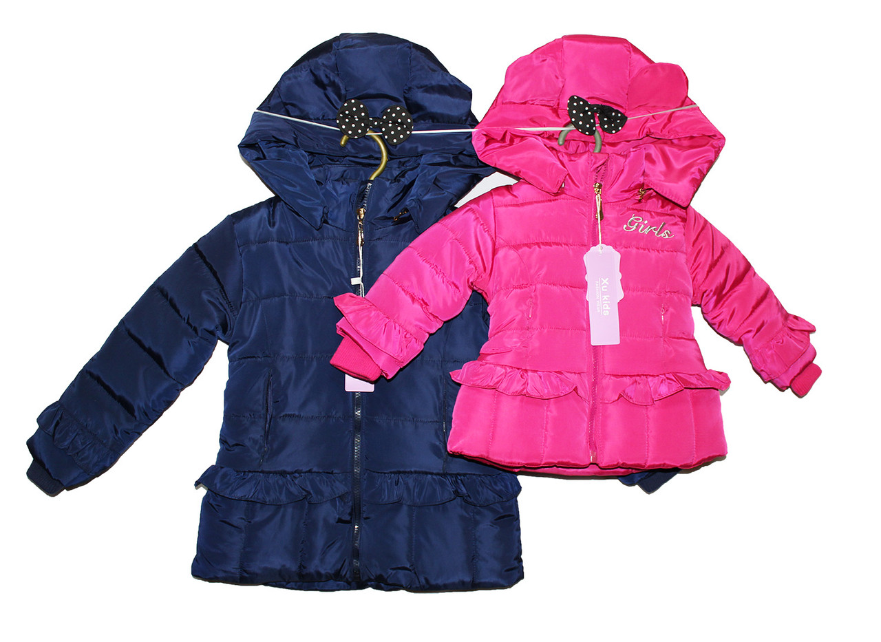 Куртка детская зимняя на меху для девочки А-6