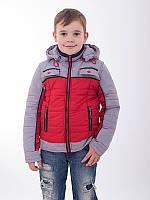 Детская куртка для мальчика 2 в 1 демисезонная с жилетом синяя, фото 1