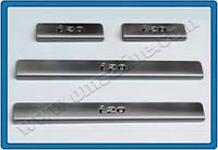 HYUNDAI I20 HB 5D (2014+) Дверные пороги (нерж.) 4 шт. Omsa