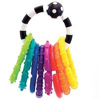 Детская погремушка-кольцо с цветными колечками Sassy, 0+