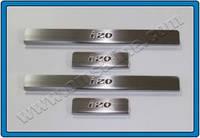 HYUNDAI IX20 HB 5D (2010+) Дверные пороги (нерж.) 4 шт. Omsa