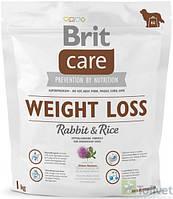 Brit Care Weight Loss Rabbit & Rice 1 kg для собак с лишним весом