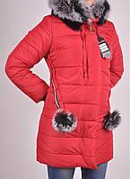 Пальто женское болоневое зимнее (цвет красный) Olso Размеры в наличии : 50,52,54,56,58 арт.1685 (производство