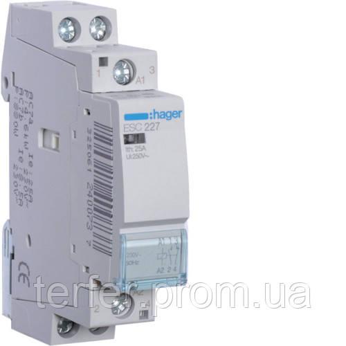 Контактор 25A, 1НО+1НЗ, 230В ESC227 Hager