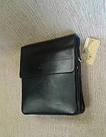 Мужская сумка на три отдела черная фирмы Langsa