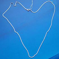 Серебряная цепочка, 550мм, 3 грамма, плетение Панцирь, фото 3