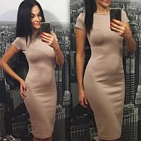 Платье сукня миди от производителя короткий рукав купить 42 44 46 48 50 52  р., фото 1