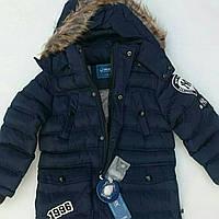 """Куртка зимняя на мальчика GRACE с нашивкой """"1996"""""""