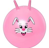 Мяч для фитнеса с рожками и рисунком 55 см MS 0484