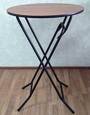Стрейч чехол на стол 70*110 круглый из плотной ткани Спандекс, фото 2