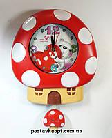 Часы настенные детские гриб