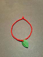 Браслет красная нить - оберег от сглаза Лист Артемезии