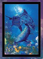 Набор для вышивания Риолис РТ-0014 Три дельфина