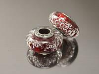 Бусина Атами для браслета, темно-красная, фото 1