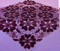 Ажурная салфетка скатерть, коричневая
