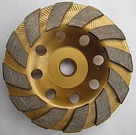 Фреза алмазная торцевая  для шлифовки гранита Turbo 100x19x5x12SxM14 №2 (125/160) мелкое