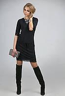 Платье из поливискозы с кружевом