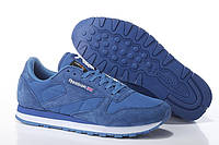 Мужские кроссовки Reebok Classic(рибок классик) синие замшевые