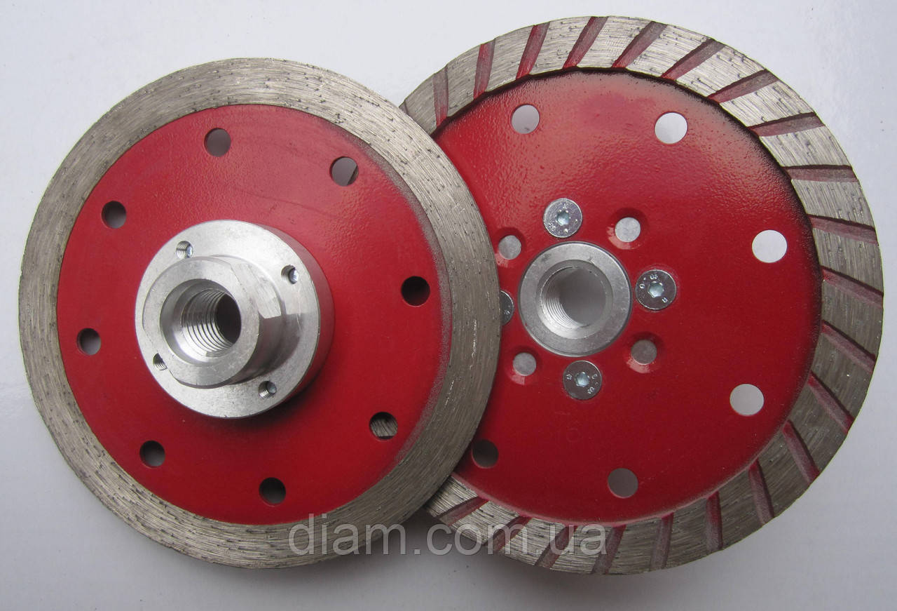 Алмазный диск на фланце для резки и шлифовки гранита MULTI 2/1 Turbo 109x4,5x10x22/M14F  - Интернет-магазин Diam в Харькове