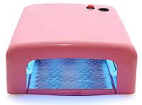 УФ лампа для наращивания ногтей 36 Вт 818 (розовая)