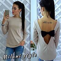 Кофта рубашка туника блузка Бантик