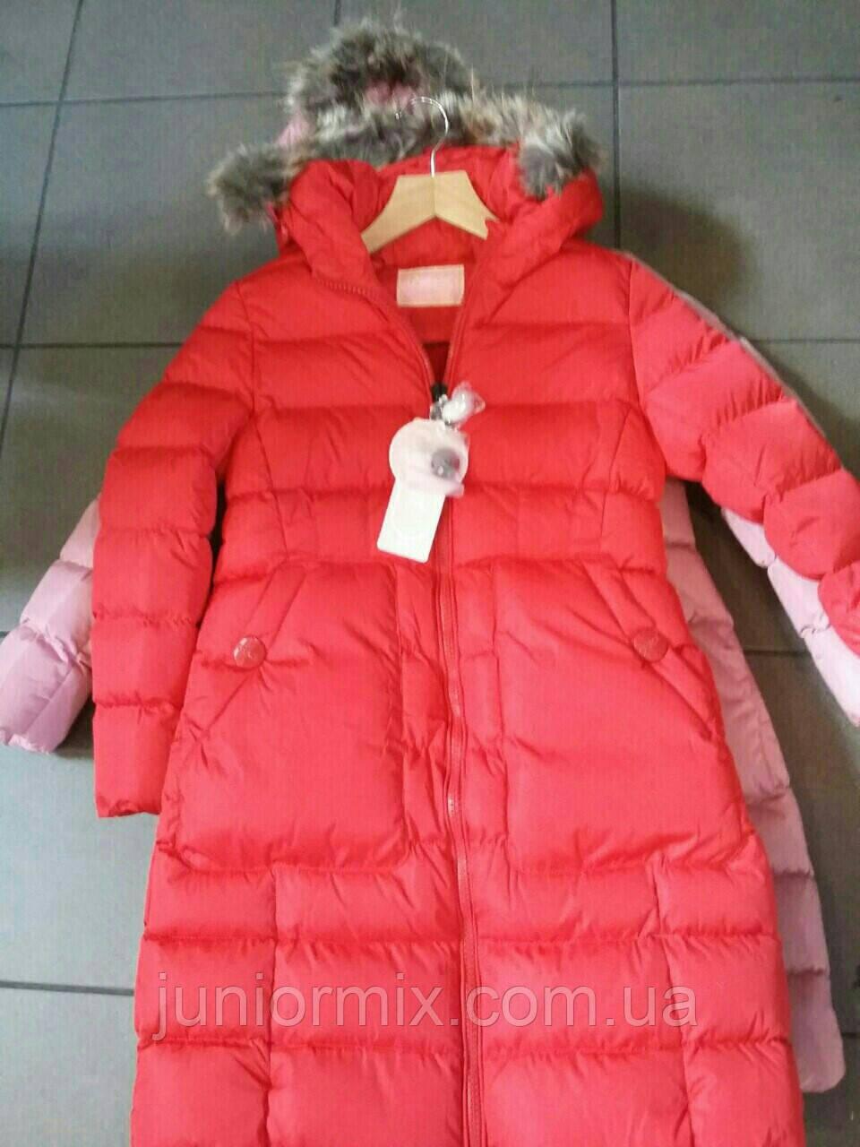 Куртка удлинённая  зимняя на девочку  GRACE.