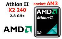 Процессор   AMD Athlon II X2 240, AM3, 2.8 ГГц, 2 ядра, ADX240OCK23GQ