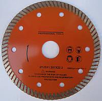 Алмазный, тонкий диск, для резки гранита, керамической плитки 125x1,3x8,5x22,2 чистый рез без сколов