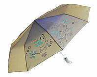 Зонт антишторм полуавтомат Цветы Хамелеон металлик