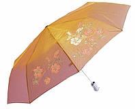Зонт антишторм полуавтомат Цветы Хамелеон золотистый