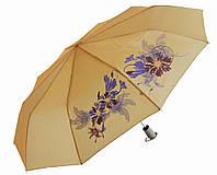Зонт антишторм полуавтомат Цветы Хамелеон бежевый